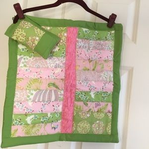 NWOT Doll Quilt with Matching Pillow